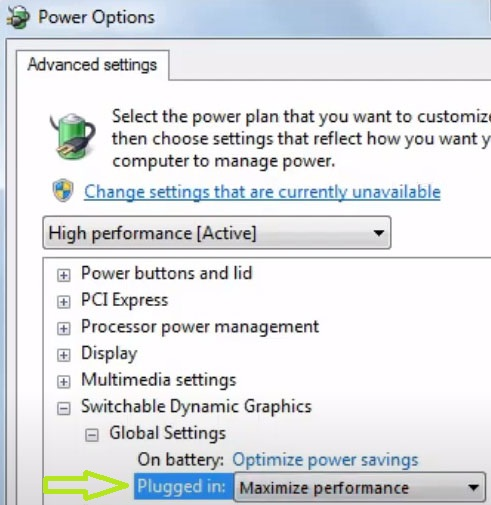 plugged in max performance